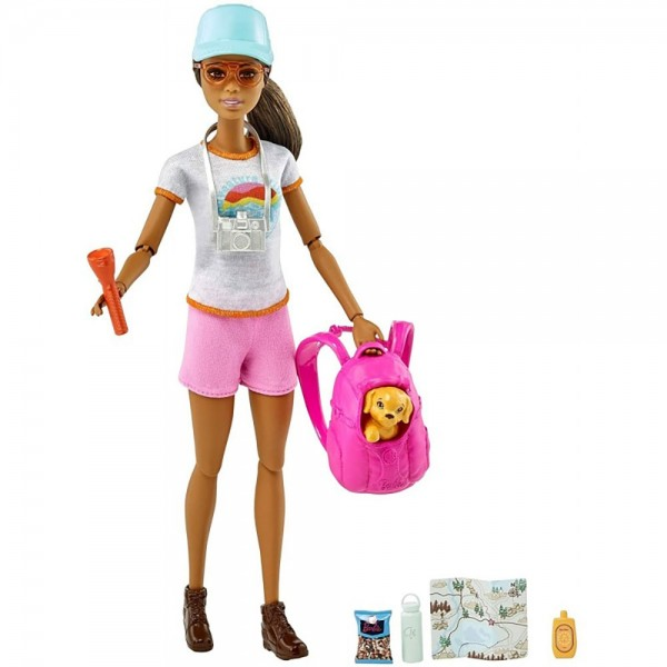 Set Barbie by Mattel Wellness and Fitness papusa cu figurina si accesorii GRN66