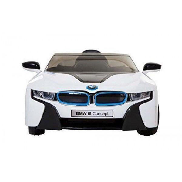Masinuta electrica cu telecomanda BMW i8 Coupe alb