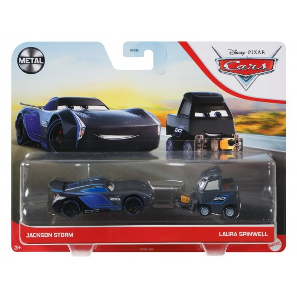 CARS3 SET 2 MASINUTE METALICE JACKSON STORM SI LAURA SPINWELL