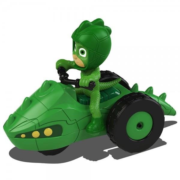 Motocicleta Dickie Toys Eroi in Pijama Moon Rover cu figurina Gekko