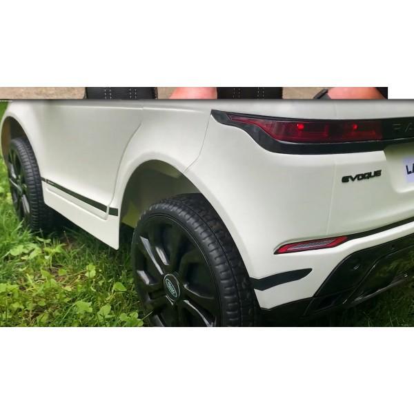 Masinuta electrica cu telecomanda Range Rover Evoque rosu 4x4 scaun piele si roti spuma cauciuc