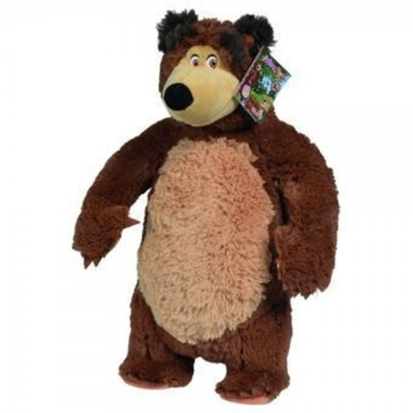 Jucarie de plus Simba Masha and the Bear Bean Bag Bear 40 cm