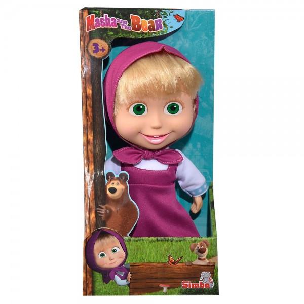 Papusa cu corp moale Simba Masha and the Bear 23 cm Masha Soft Doll