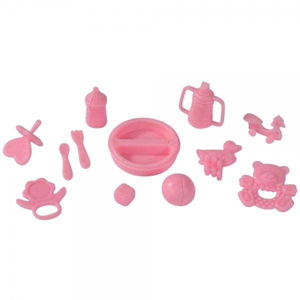 Papusa Simba Steffi Love Baby Walk 29 cm roz cu carucior si accesorii