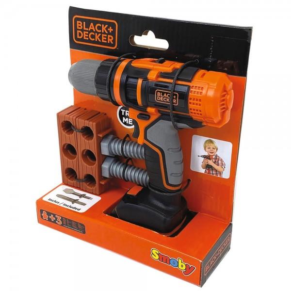 Jucarie Smoby Bormasina mecanica Black & Decker cu accesorii