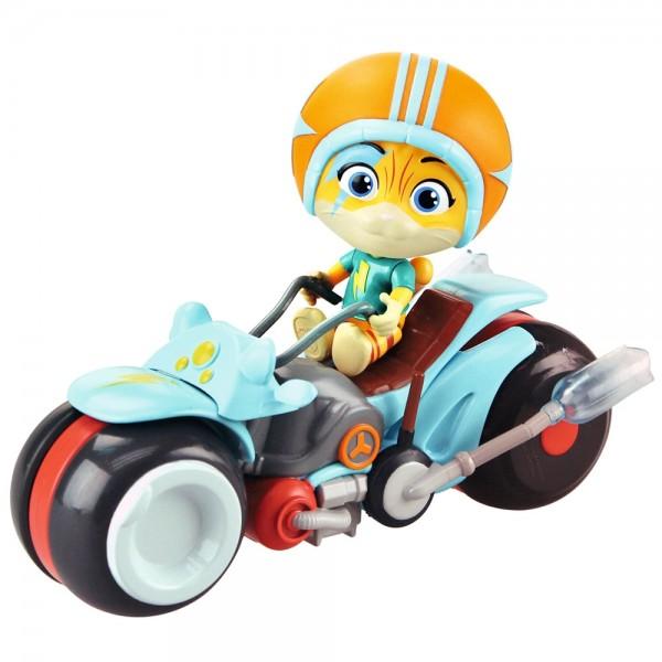 Motocicleta Smoby 44 Cats cu figurina Lampo 77 cm