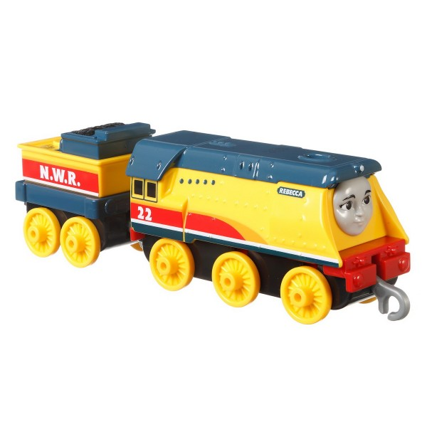 THOMAS LOCOMOTIVA CU VAGON PUSH ALONG REBECCA