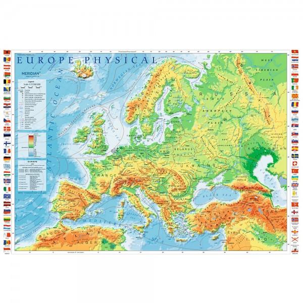 PUZZLE TREFL 1000 HARTA FIZICA A EUROPEI