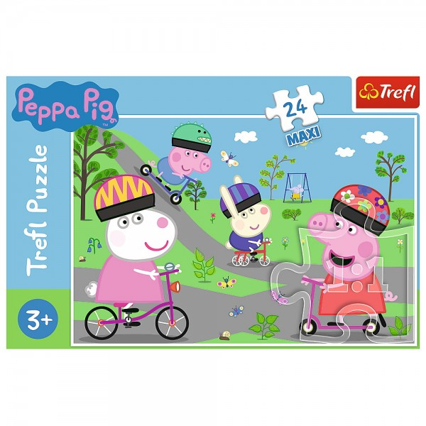 PUZZLE TREFL 24 MAXI PURCELUSA PEPPA PIG