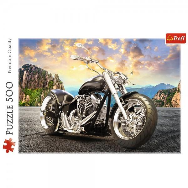 PUZZLE TREFL 500 MOTOCICLETA NEAGRA