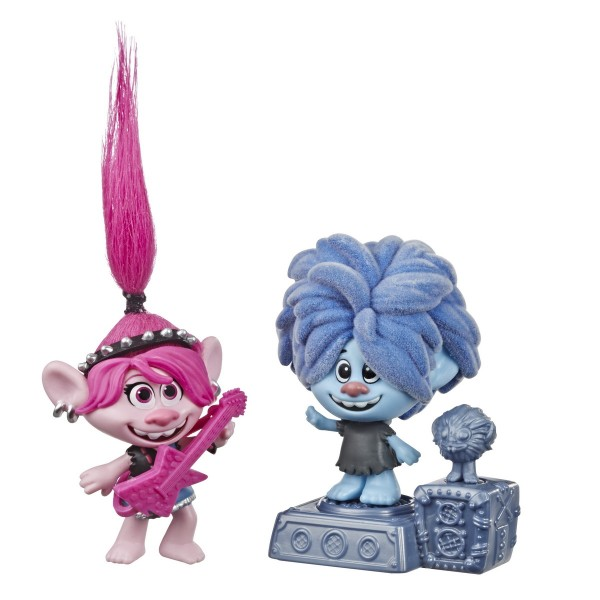 TROLLS SET 2 FIGURINE ROCK CITY BOBBLE